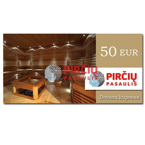 Dovanų kuponas 50 Eurai