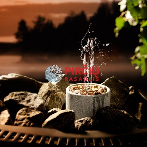 """Akmeninis kvapų fontanas """"Saunatroikka"""""""