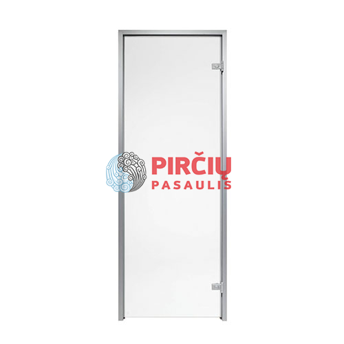 Durys aliuminio stakta 70x210 skaidrus