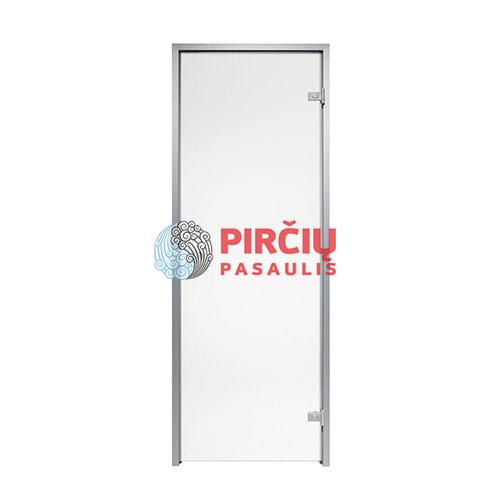 Durys aliuminio stakta 80x190 skaidrus