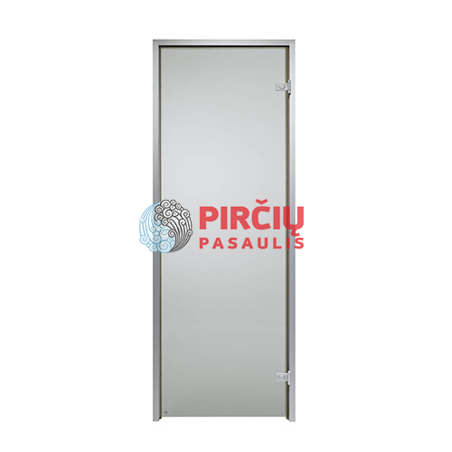 Durys aliuminio stakta 80x200 pilka