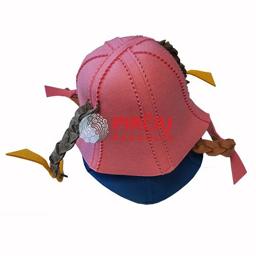 Skrybėlė pirčiai  vaikiška su kasytėmis
