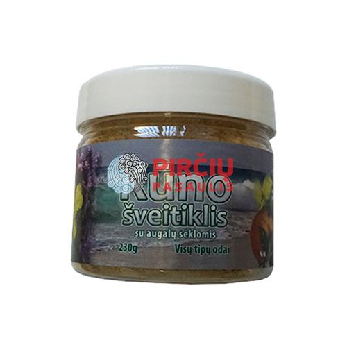 Kūno šveitiklis su jūros druska ir aliejingų sėklų milteliais 230 g.
