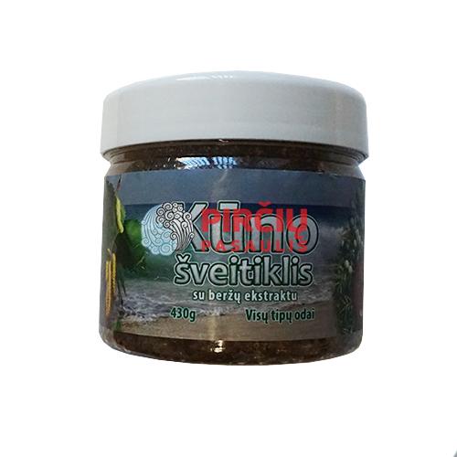 Kūno šveitiklis su jūros druska, beržų lapų-pumpurų ekstraktu 230g.